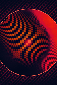 Abstract Circle Red Lines 4k