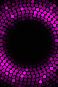 1125x2436 Abstract Circles Violet 4k