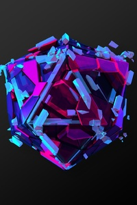 Abstract Colorful Cgi Triangle Art