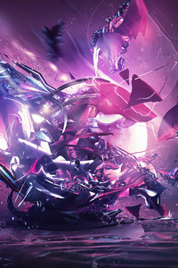 640x960 Abstract Colorful Destruction Splash 4k