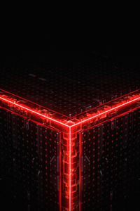 720x1280 Abstract Cube Building 5k