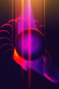 Abstract Dark Lights Creating Shapes 4k