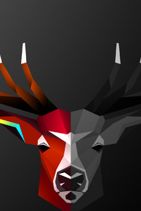 Abstract Deer 4k