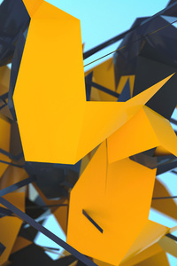 1440x2960 Abstract Geometry 3d Shapes 5k