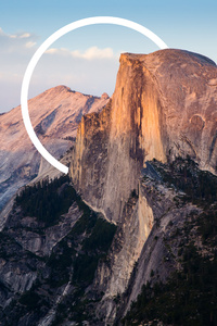 720x1280 Abstract Mountains Circle