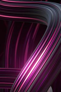 360x640 Abstract Purple Lines Art 4k