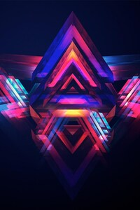 640x1136 Abstract Pyramids