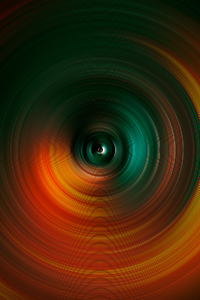 Abstract Spiral Digital Art