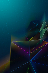 320x480 Abstract Triangles Motion 4k