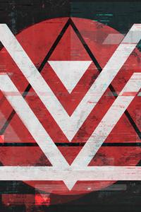 Abstract V Char 4k