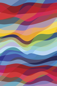 Abstract Waves Colorful 4k