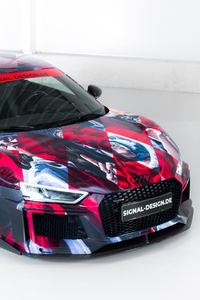 1080x2160 Abt Audi R8 Art Color 2018