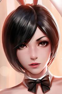 1242x2688 Ada Wong Resident Evil 2 Fantasy Art
