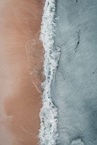 1440x2960 Aerial Beach Waves At Sea Shore