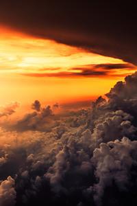 Aerial Cloud Horizon Sunset