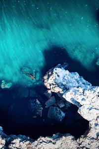 Aerial Drone Island Beach View 5k