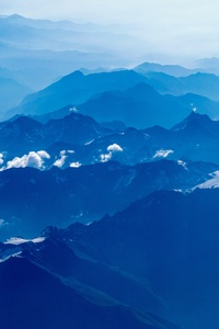 480x800 Aerial Photography Of Mountains