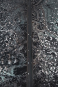 360x640 Aerial View Of Road Ice Frozen 4k