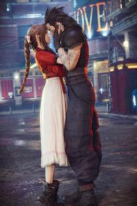 Aerith Gainsborough And Cloud Strife Final Fantasy 7 Remake 4k