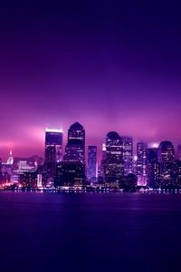 320x480 Aesthetic City Night Lights