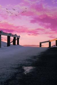 1080x1920 Aesthetics Pink Pink Sky 5k