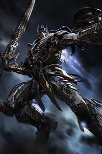 720x1280 Age Of Extinction Optimus Prime Knight 4k