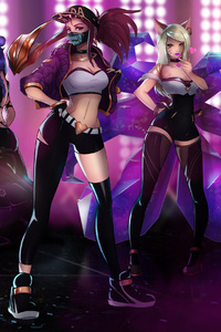 Ahri Akali Evelynn And Kaisa League Of Legends Girls