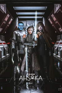 Ahsoka Star Wars Poster 4k