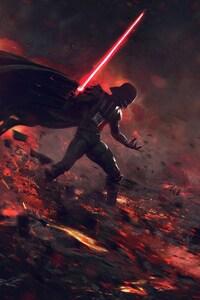 750x1334 Ahsoka Tano Vs Darth Vader