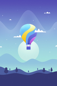 2160x3840 Air Balloon Journey Minimal 4k