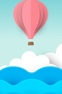 1280x2120 Air Balloon Minimal 8k