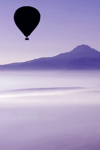 1440x2560 Air Balloon Mountains Landscape