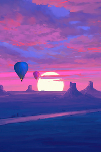 2160x3840 Air Balloons Minimal Morning 4k