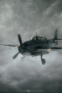 320x480 Aircraft Dark Clouds
