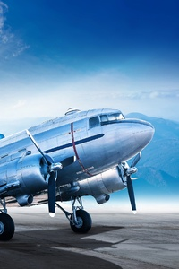 640x1136 Airplane