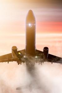 1280x2120 Airplane 4k