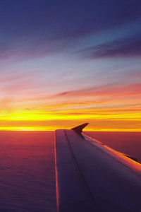 240x320 Airplane Dawn Dusk Flight Sunrise Sky