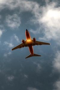 Airplane Sky Cloud Flight 5k
