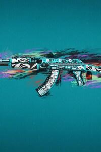800x1280 Ak47 Colorful Art