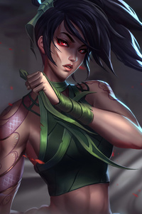240x320 Akali Knows How To Attack 5k