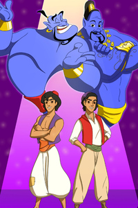 1440x2960 Aladdin 2019 Artwork