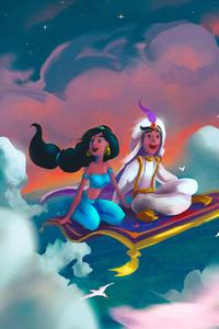 Aladdin And Jasmine Art