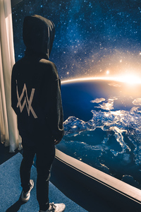2160x3840 Alan Walker Watching The Universe