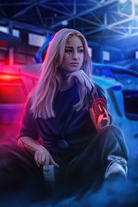 640x1136 Aless Cybergirl 4k