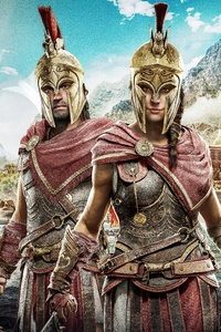 Alexios And Kassandra Assassins Creed Odyssey 8k