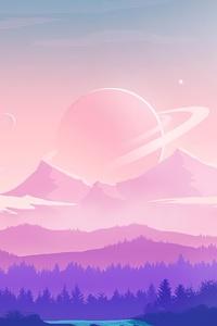 320x480 Alien Moon Nature 4k