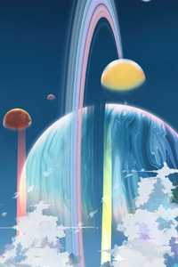 1280x2120 Alien Sky Planet 5k