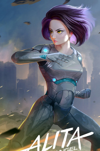 Alita Battle Angel 2018 Art