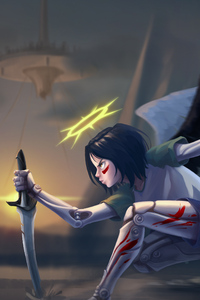 640x1136 Alita Battle Angel Artwork