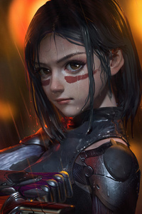 240x320 Alita Battle Angel Artworks